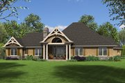 Craftsman Style House Plan - 4 Beds 3.5 Baths 2801 Sq/Ft Plan #48-945 Exterior - Rear Elevation