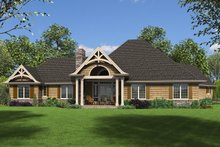 Dream House Plan - Craftsman Exterior - Rear Elevation Plan #48-945