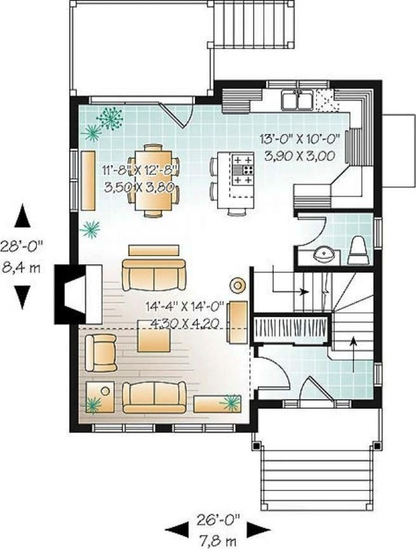 House Plan Design - Country Floor Plan - Main Floor Plan #23-2419