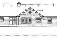 House Plan Design - Traditional Exterior - Rear Elevation Plan #97-110