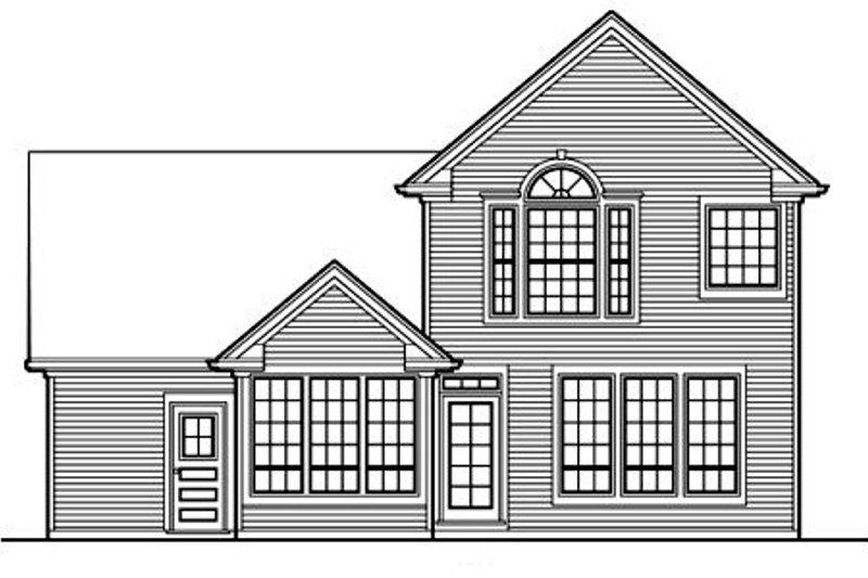 Country Exterior - Rear Elevation Plan #48-434 - Houseplans.com