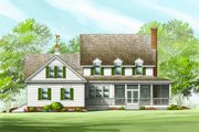 Country Style House Plan - 4 Beds 3.5 Baths 2842 Sq/Ft Plan #137-199 Exterior - Rear Elevation