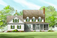 Architectural House Design - Country Exterior - Rear Elevation Plan #137-199