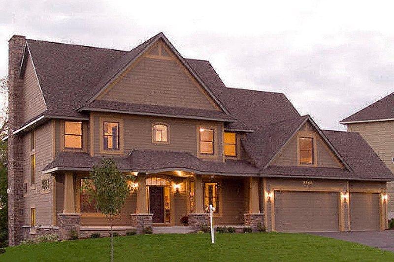 Dream House Plan - Craftsman Exterior - Front Elevation Plan #56-583