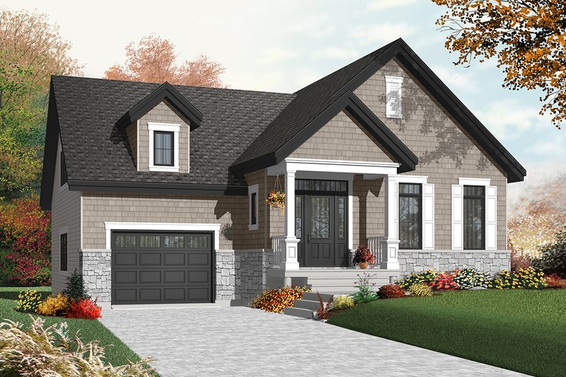 Architectural House Design - Craftsman Exterior - Front Elevation Plan #23-2386