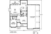 Country Style House Plan - 5 Beds 5 Baths 2698 Sq/Ft Plan #56-543 Floor Plan - Main Floor Plan