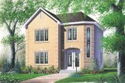 European Style House Plan - 3 Beds 1.5 Baths 1369 Sq/Ft Plan #23-2115 Exterior - Front Elevation