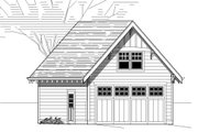 Bungalow Style House Plan - 0 Beds 0 Baths null Sq/Ft Plan #423-18 Exterior - Front Elevation