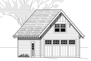 Bungalow Exterior - Front Elevation Plan #423-18