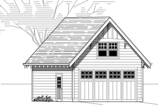 Bungalow Exterior - Front Elevation Plan #423-18