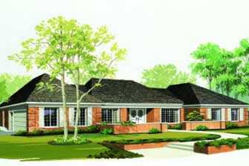 Traditional Exterior - Front Elevation Plan #72-178 - Houseplans.com