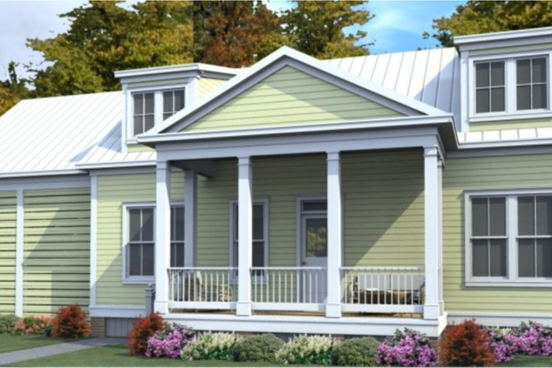 Home Plan - Country Exterior - Front Elevation Plan #63-379