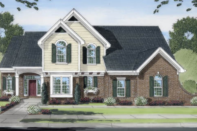 Traditional Exterior - Front Elevation Plan #46-414