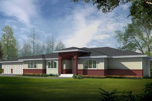 Ranch Exterior - Front Elevation Plan #100-456