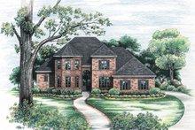 Home Plan Design - European Exterior - Front Elevation Plan #20-252