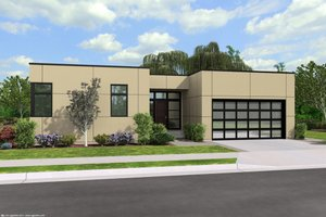 Contemporary Exterior - Front Elevation Plan #48-471