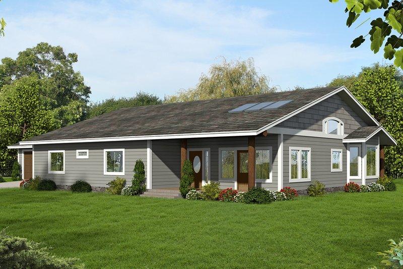 House Plan Design - Ranch Exterior - Front Elevation Plan #117-882