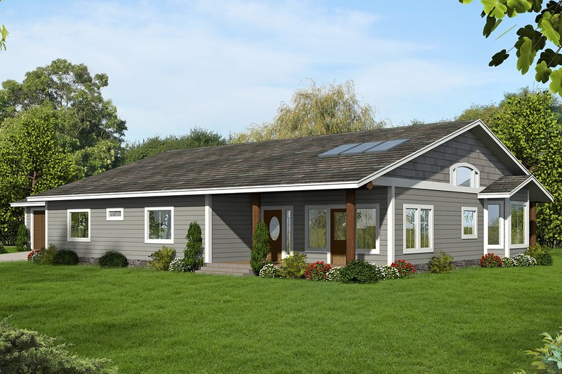 Home Plan - Ranch Exterior - Front Elevation Plan #117-882