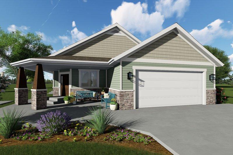 House Plan Design - Ranch Exterior - Front Elevation Plan #1060-40