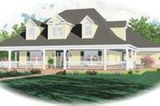 Farmhouse Style House Plan - 4 Beds 3.5 Baths 3491 Sq/Ft Plan #81-1457 Exterior - Front Elevation
