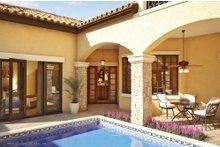 Mediterranean Exterior - Outdoor Living Plan #930-22