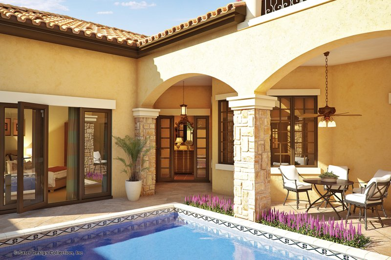 Mediterranean Exterior - Outdoor Living Plan #930-22 - Houseplans.com