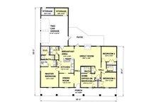 Southern Floor Plan - Main Floor Plan Plan #44-120