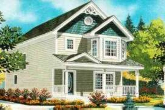 Cottage Exterior - Front Elevation Plan #308-193