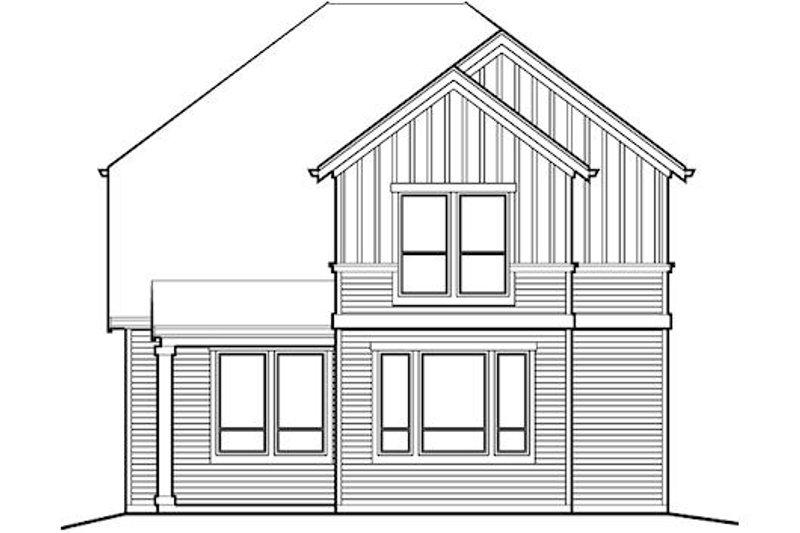 Traditional Exterior - Rear Elevation Plan #48-510 - Houseplans.com