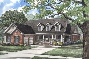 Country Exterior - Front Elevation Plan #17-287