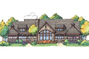 Craftsman Style House Plan - 4 Beds 4 Baths 3200 Sq/Ft Plan #929-898 Exterior - Rear Elevation