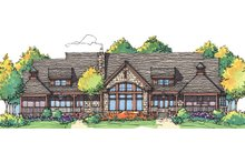 Dream House Plan - Craftsman Exterior - Rear Elevation Plan #929-898