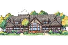 Architectural House Design - Craftsman Exterior - Rear Elevation Plan #929-898