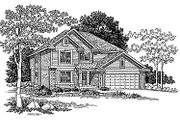 Traditional Style House Plan - 4 Beds 2.5 Baths 2153 Sq/Ft Plan #70-317 Exterior - Front Elevation