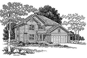 Traditional Exterior - Front Elevation Plan #70-317