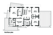 Modern Style House Plan - 4 Beds 2.5 Baths 3146 Sq/Ft Plan #496-19 Floor Plan - Upper Floor Plan