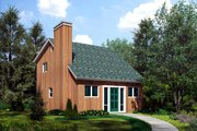 Contemporary Style House Plan - 2 Beds 2 Baths 990 Sq/Ft Plan #312-239 Exterior - Front Elevation