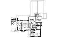 European Floor Plan - Upper Floor Plan Plan #46-486