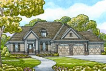 Craftsman Exterior - Front Elevation Plan #20-2129