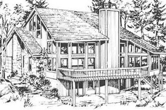 Contemporary Exterior - Front Elevation Plan #320-142