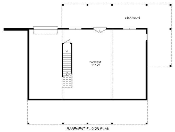 Country Floor Plan - Lower Floor Plan Plan #932-15