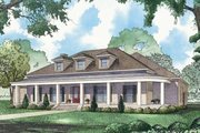 Southern Style House Plan - 3 Beds 3.5 Baths 4139 Sq/Ft Plan #923-84 Exterior - Front Elevation