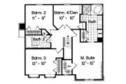 Traditional Style House Plan - 4 Beds 2.5 Baths 1879 Sq/Ft Plan #417-164