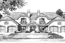 European Exterior - Front Elevation Plan #57-144