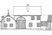 Farmhouse Exterior - Rear Elevation Plan #137-166