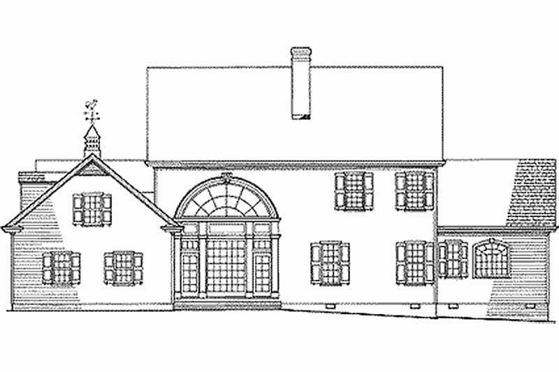 Farmhouse Exterior - Rear Elevation Plan #137-166 - Houseplans.com