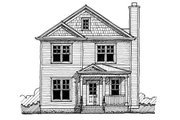 Traditional Style House Plan - 4 Beds 3 Baths 1968 Sq/Ft Plan #483-1 Exterior - Front Elevation