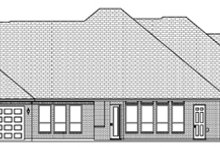 Dream House Plan - Traditional Exterior - Rear Elevation Plan #84-498
