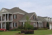 Classical Style House Plan - 5 Beds 4 Baths 4465 Sq/Ft Plan #137-157 Exterior - Front Elevation