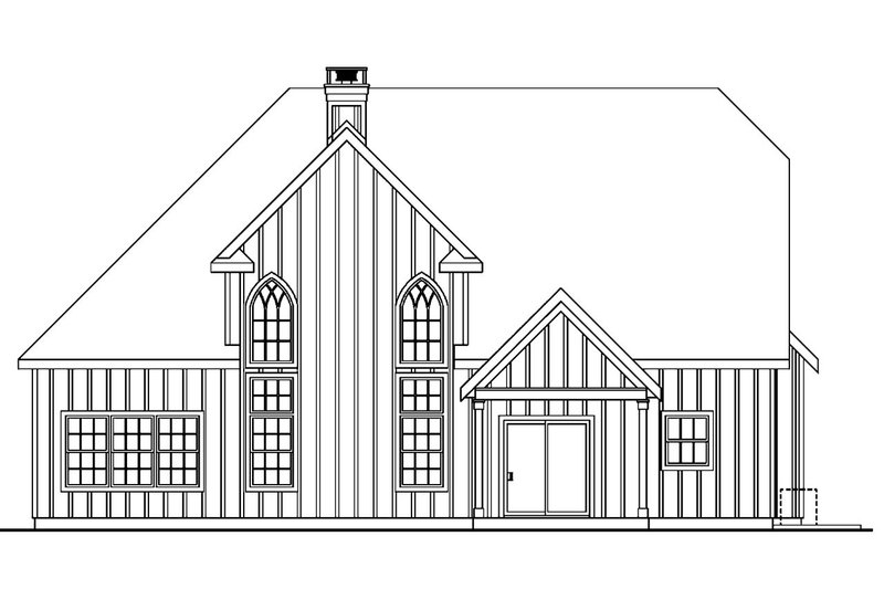 European Exterior - Rear Elevation Plan #124-688 - Houseplans.com